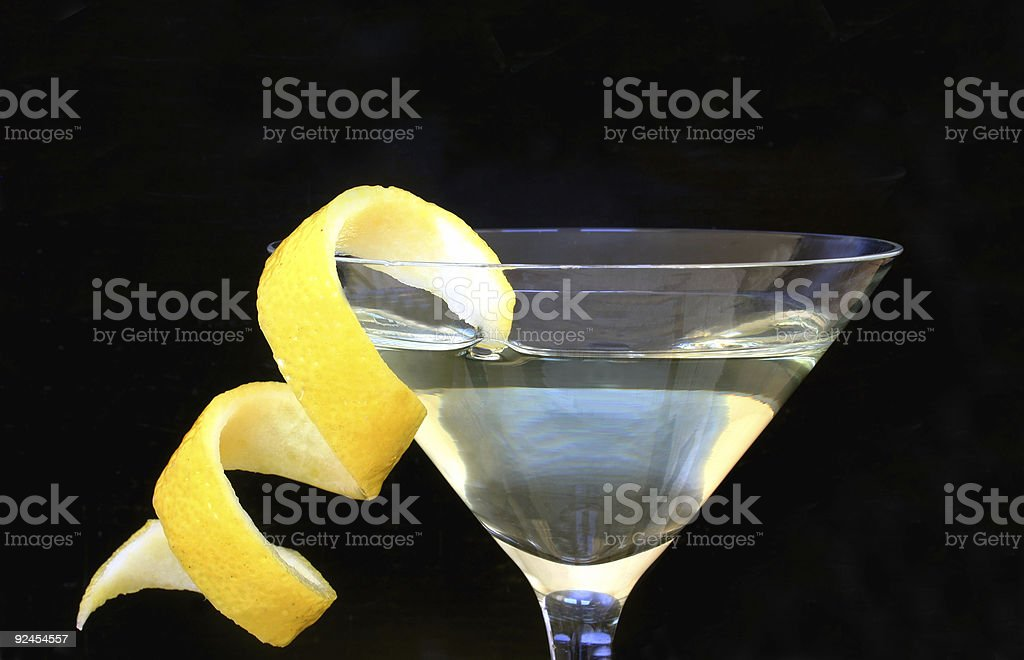 Lemon Vodka Twist stock photo