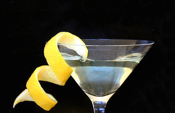 Lemon Vodka Twist stock photo