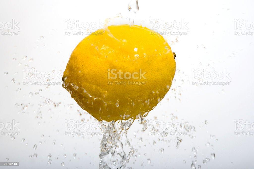 Lemon wash on white royalty-free stock photo