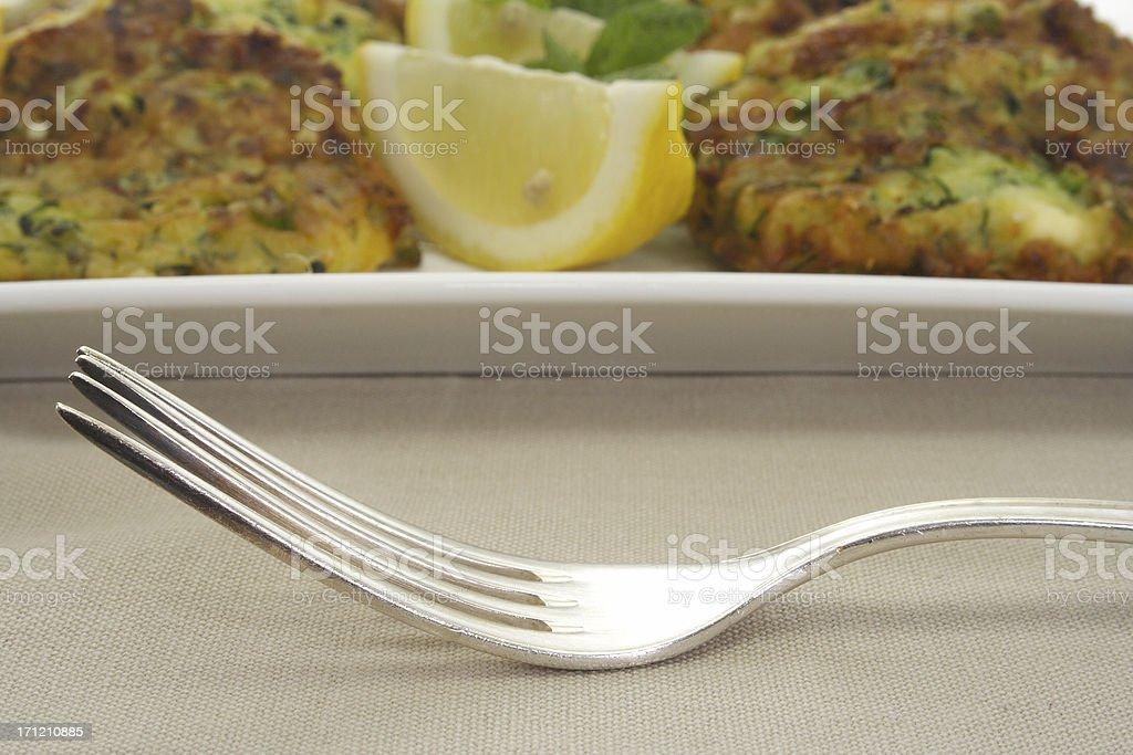 lemon wedge zucchini royalty-free stock photo