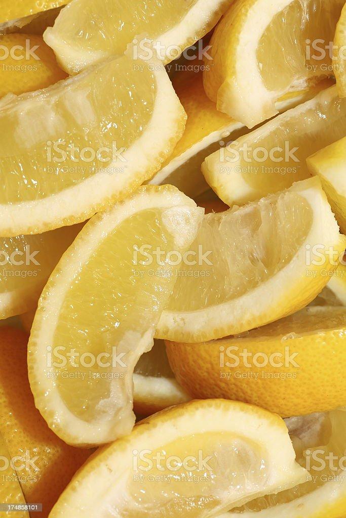 Lemon Wedges royalty-free stock photo