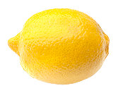 A fresh lemon isolated on white background with clipping path.