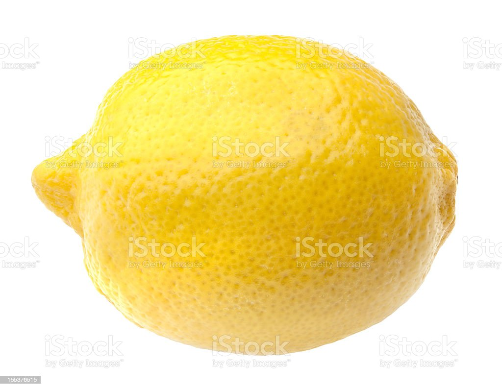 Lemon with Clipping Path stock photo