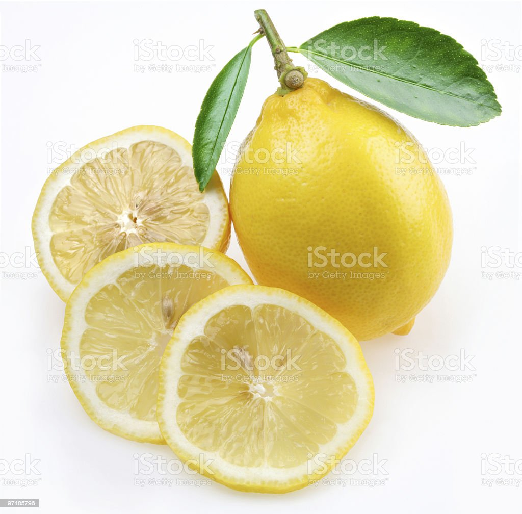 Lemon with section royalty-free stock photo