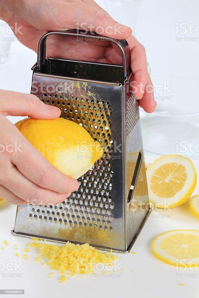 Lemon zest royalty-free stock photo