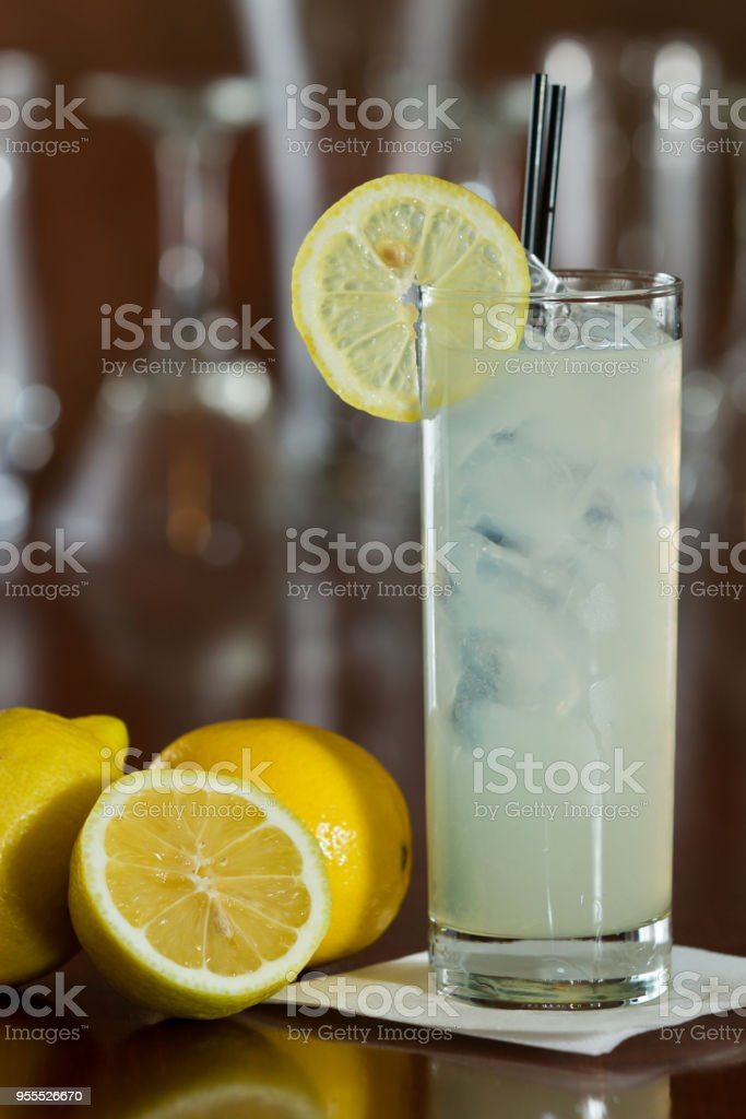 lemonade cocktail stock photo