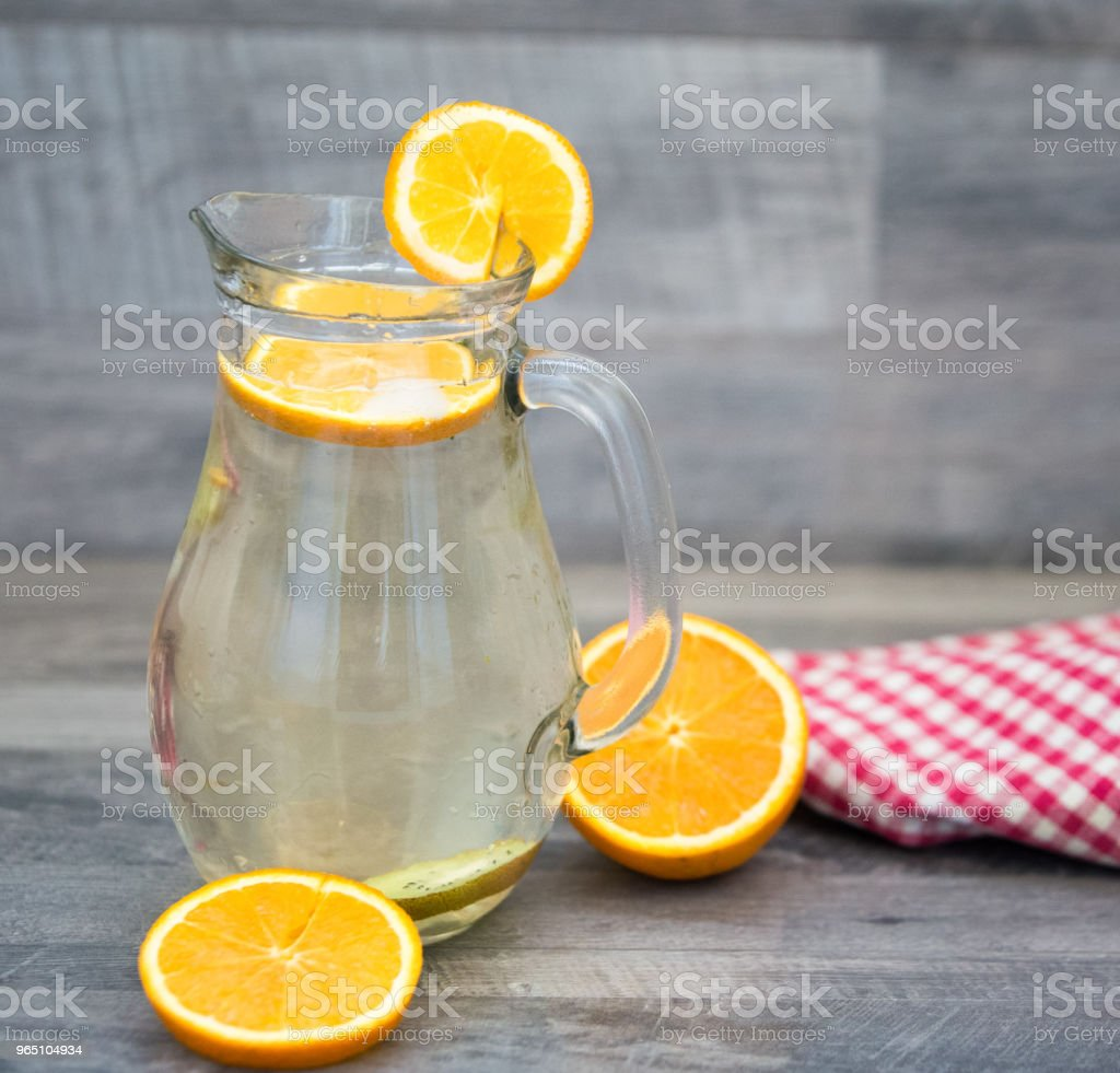 Lemonade glass, summer drink background zbiór zdjęć royalty-free