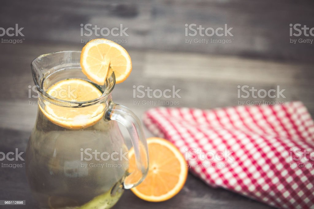 Lemonade glass, summer drink background royalty-free stock photo