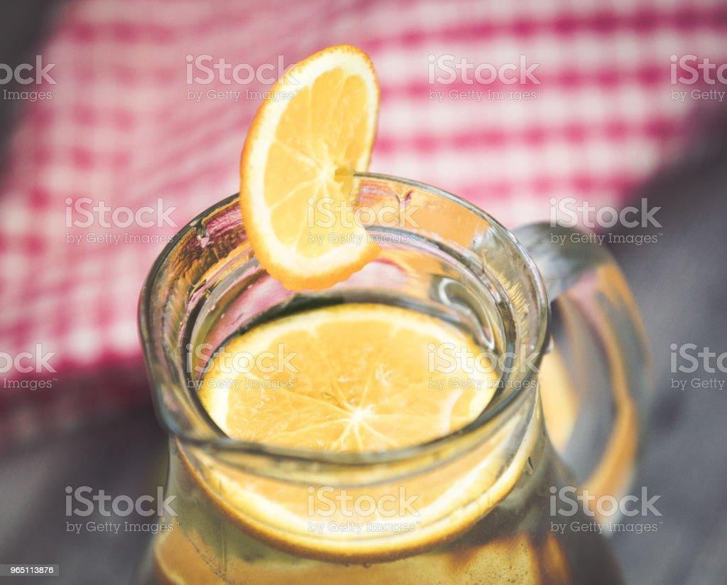 Lemonade glass, summer drink background zbiór zdjęć royalty-free