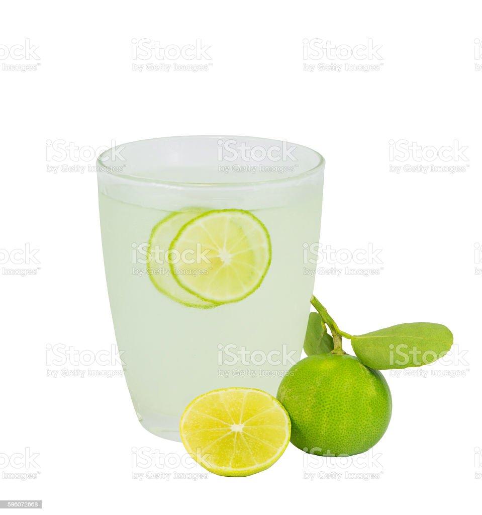 lemonade in glass royalty-free stock photo