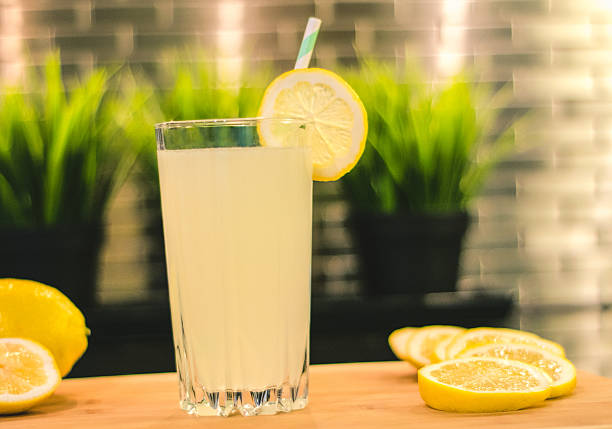 lemonade in kitchen stock photo