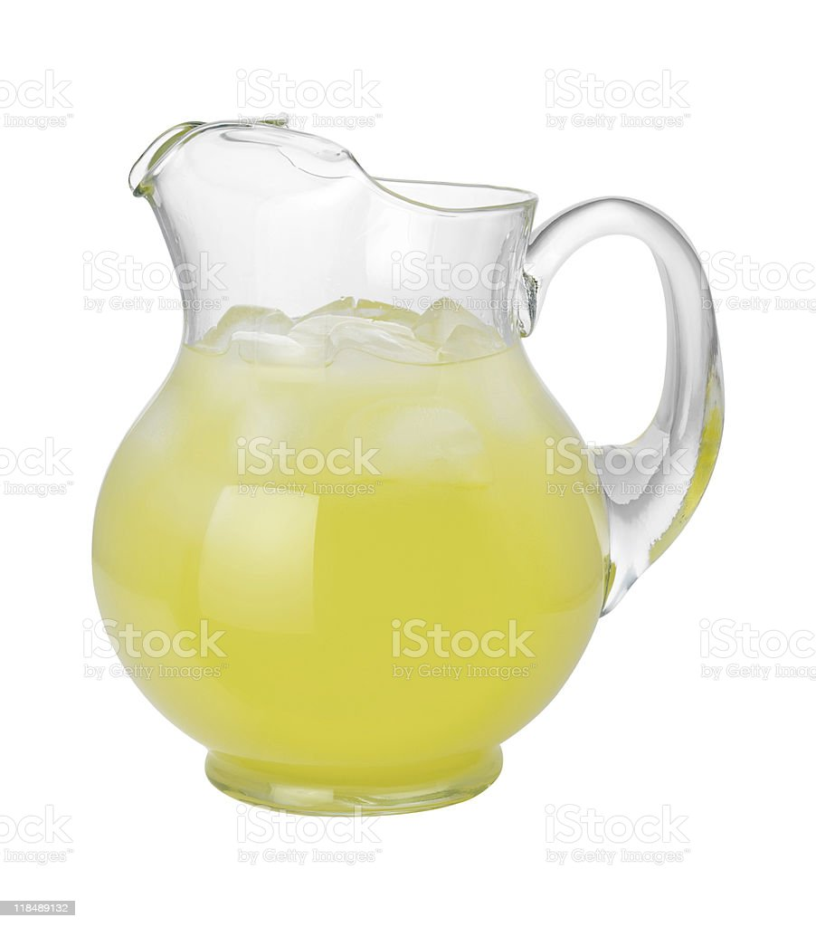 Lemonade Pitcher (with clipping path) stock photo