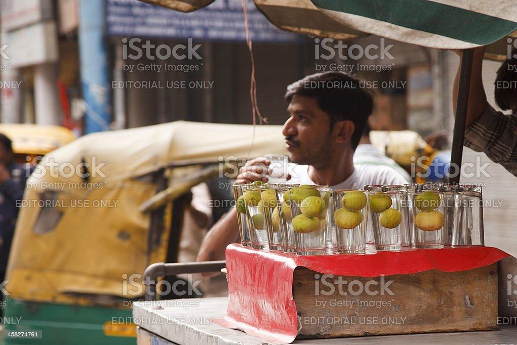 Lemonade Seller In Old Delhi stock photo | iStock