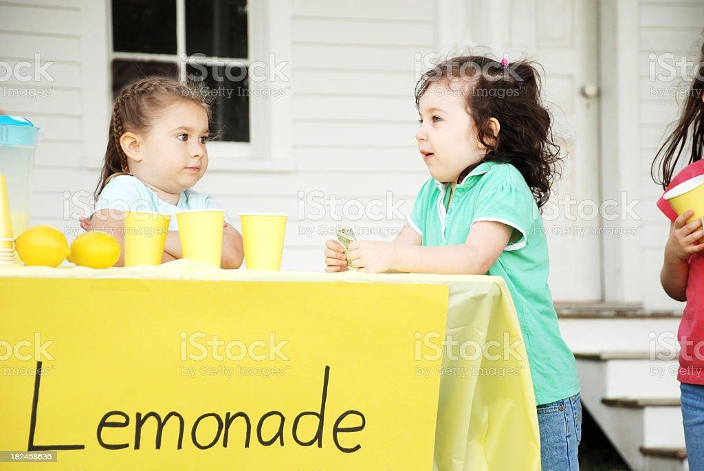 Lemonade Stand Conversations royalty-free stock photo