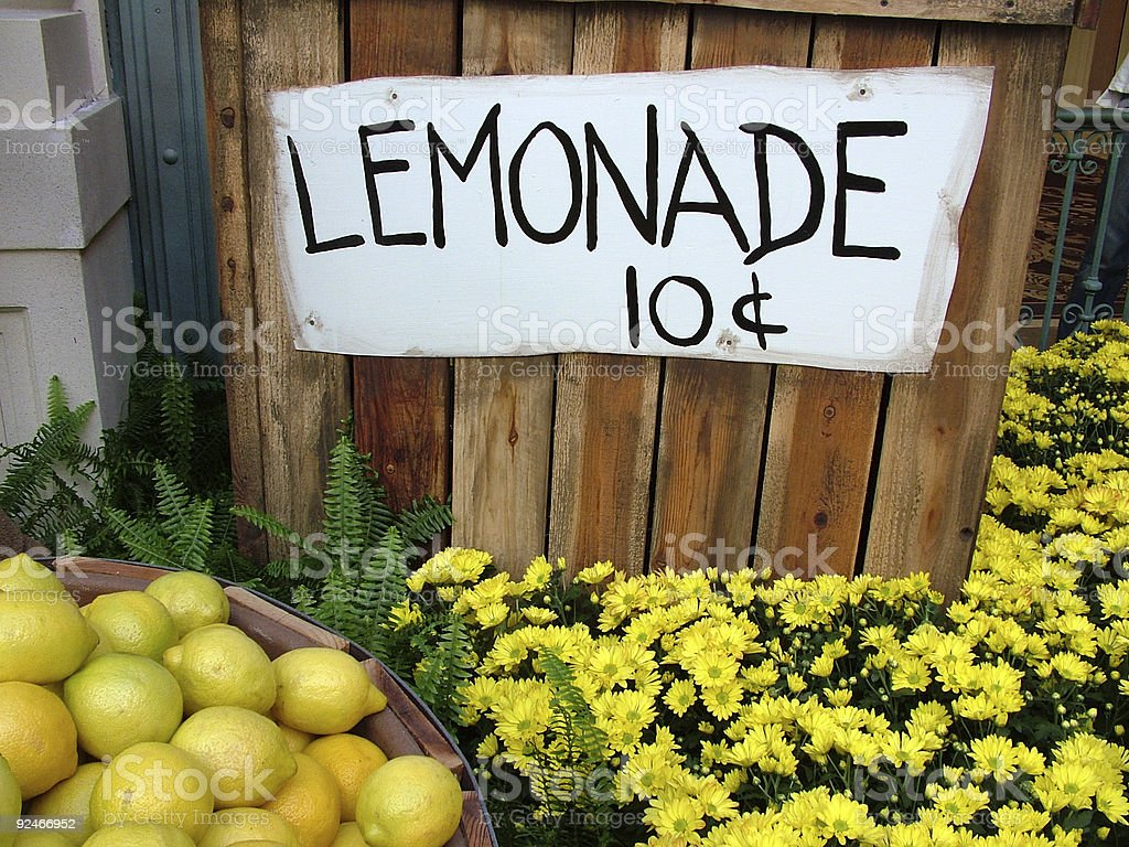 Lemonade Stand royalty-free stock photo