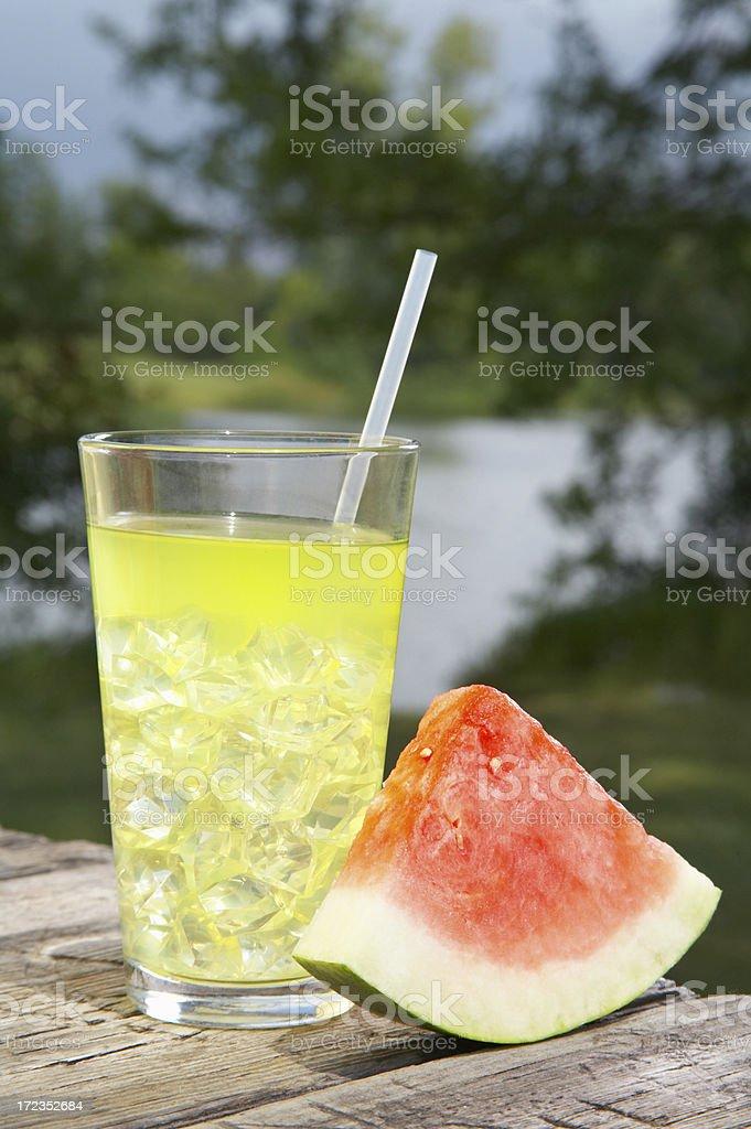 Limonada & sandía foto de stock libre de derechos