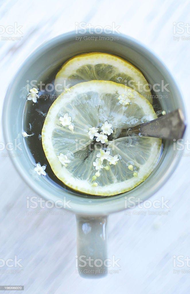 Lemonade with elderflower royalty-free stock photo