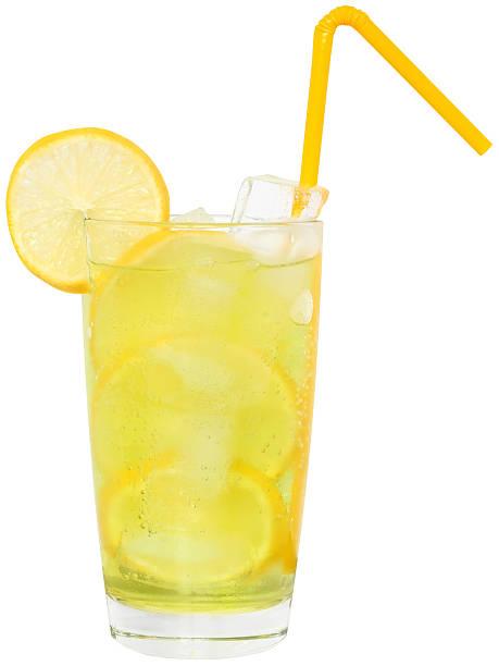 lemonade with ice cubes - 檸檬水 個照片及圖片檔