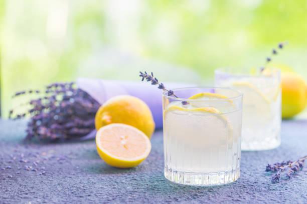 Limonade mit Zitronen und Lavendel – Foto