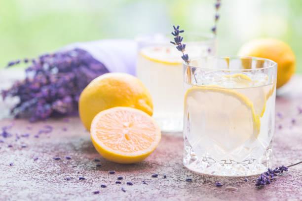 레모네이드 레몬과 라벤더 - 레모네이드 뉴스 사진 이미지