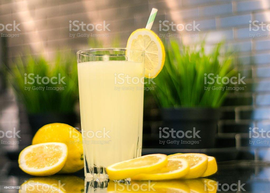 Lemonoade in kitchen royalty-free stock photo