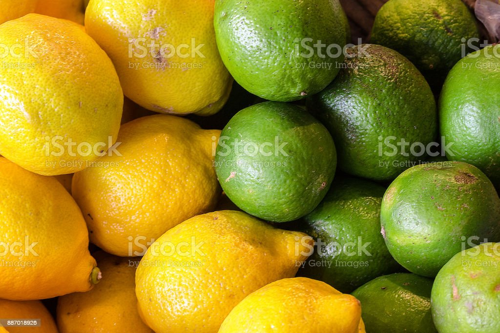 Lemons and Limes stock photo