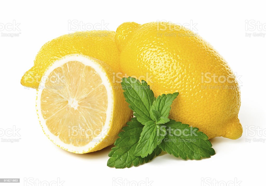 Lemons and mint royalty-free stock photo