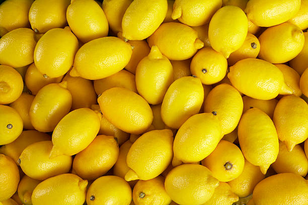 Lemons At Market stock photo