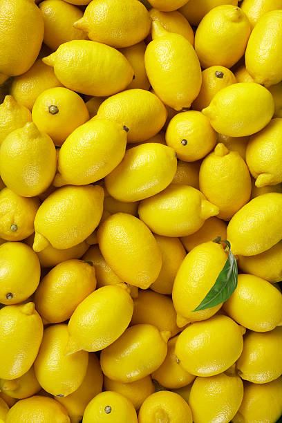 Lemons At Market stock photo