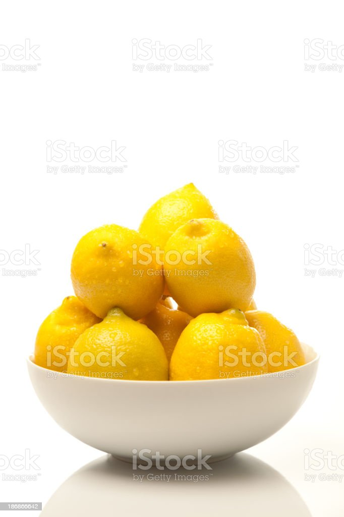 Lemons in a Bowl stock photo