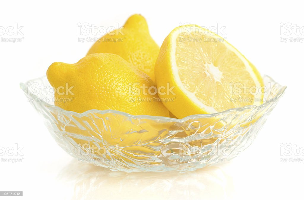 Lemons in a Dish royalty-free stock photo