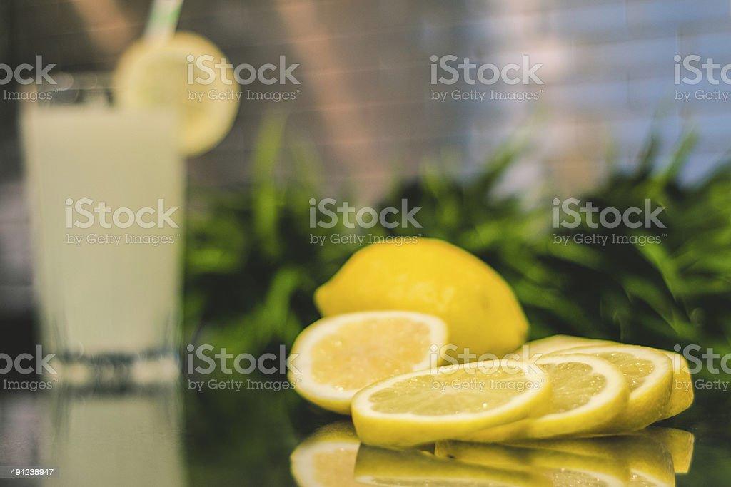 lemons in kitcen stock photo