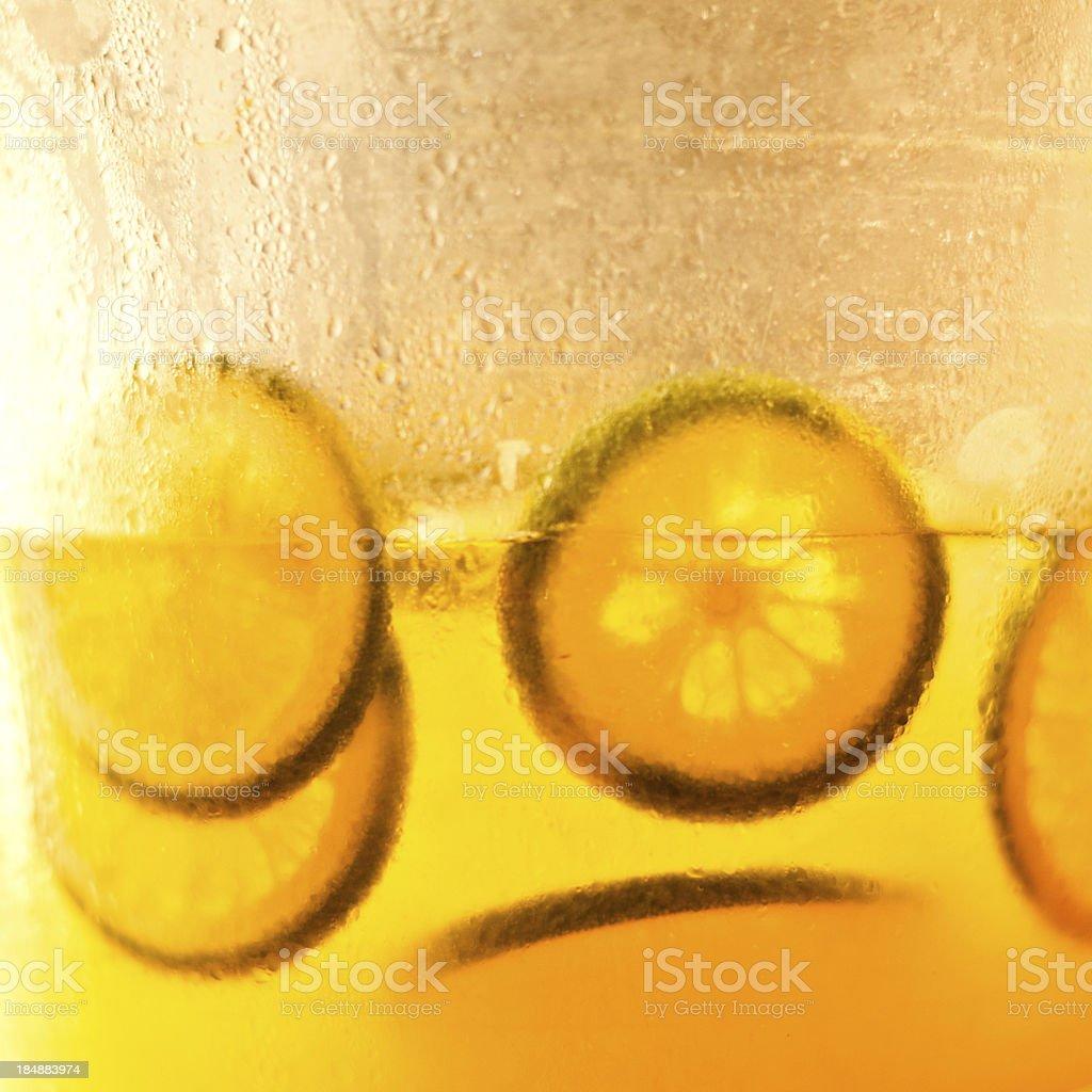Lemons in the bottle stock photo