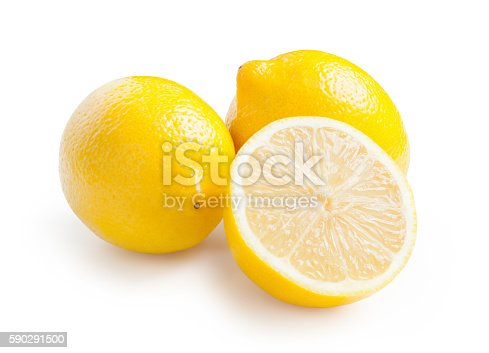 Lemons Isolated On White Background-foton och fler bilder på Antioxidant