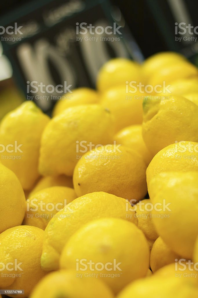 Lemons On Sale royalty-free stock photo