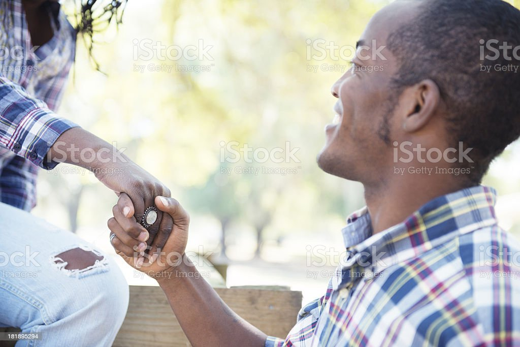 Lending A Hand royalty-free stock photo