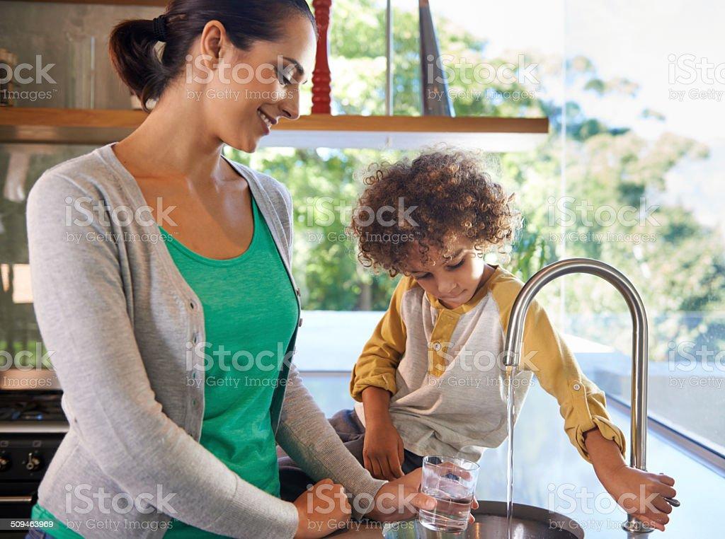 Lending a hand stock photo