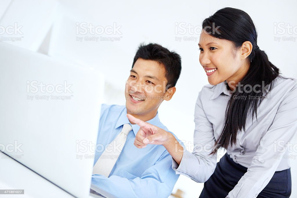 Lending a helping hand at work royalty-free stock photo