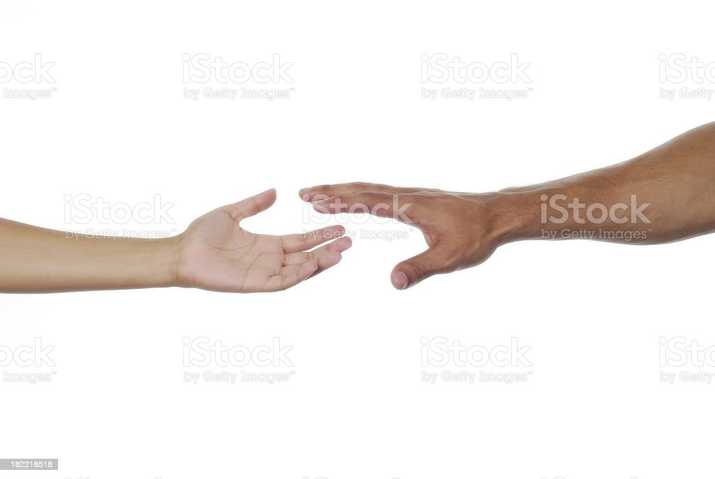 Lending A Helping Hand stock photo