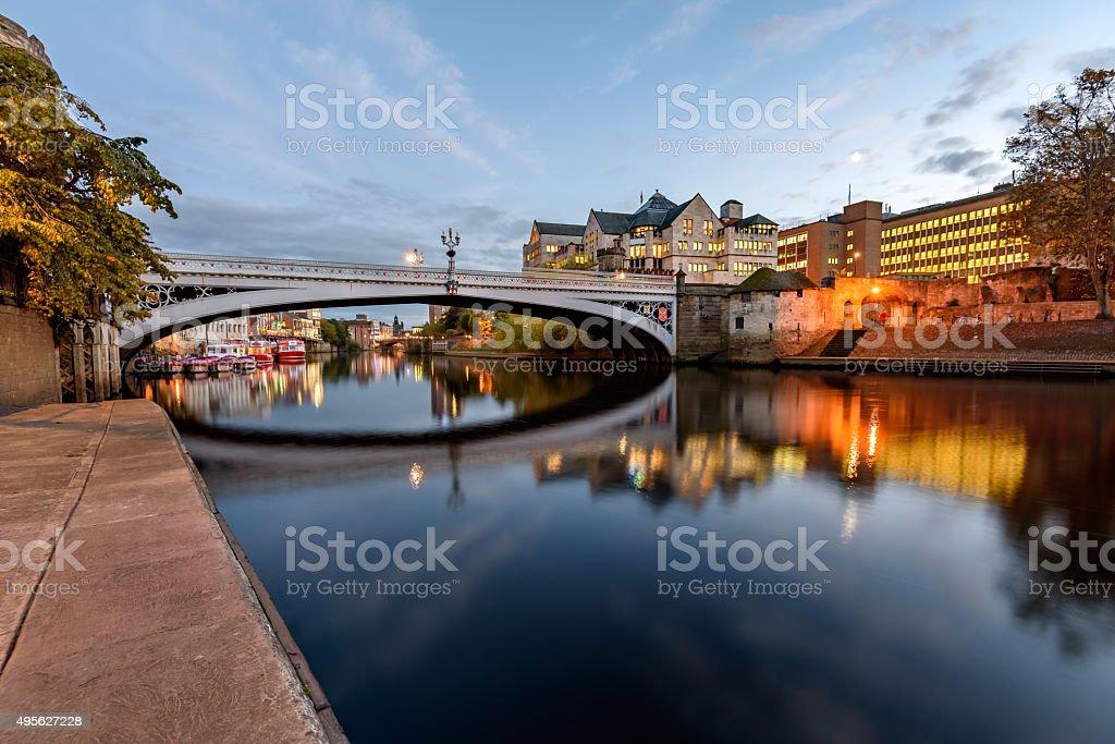 Lengal Bridge York Uk stock photo