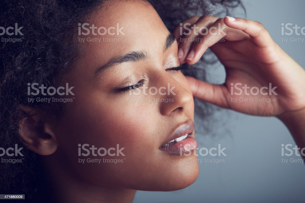 Lengthy lashes stock photo