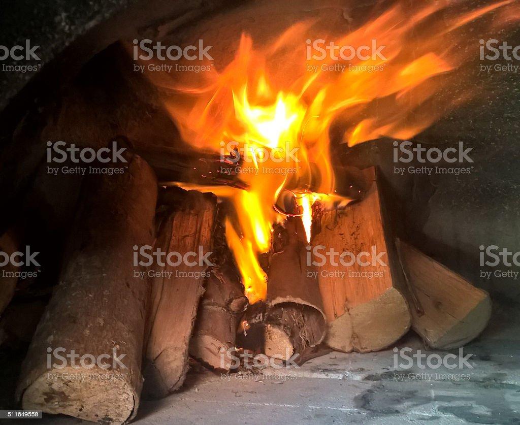Lenha queimando stock photo
