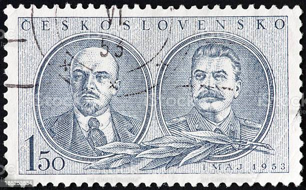 Lenin and Stalin Stamp