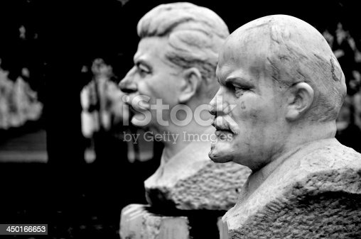 istock Lenin and Stalin Statue in Moscow 450166653