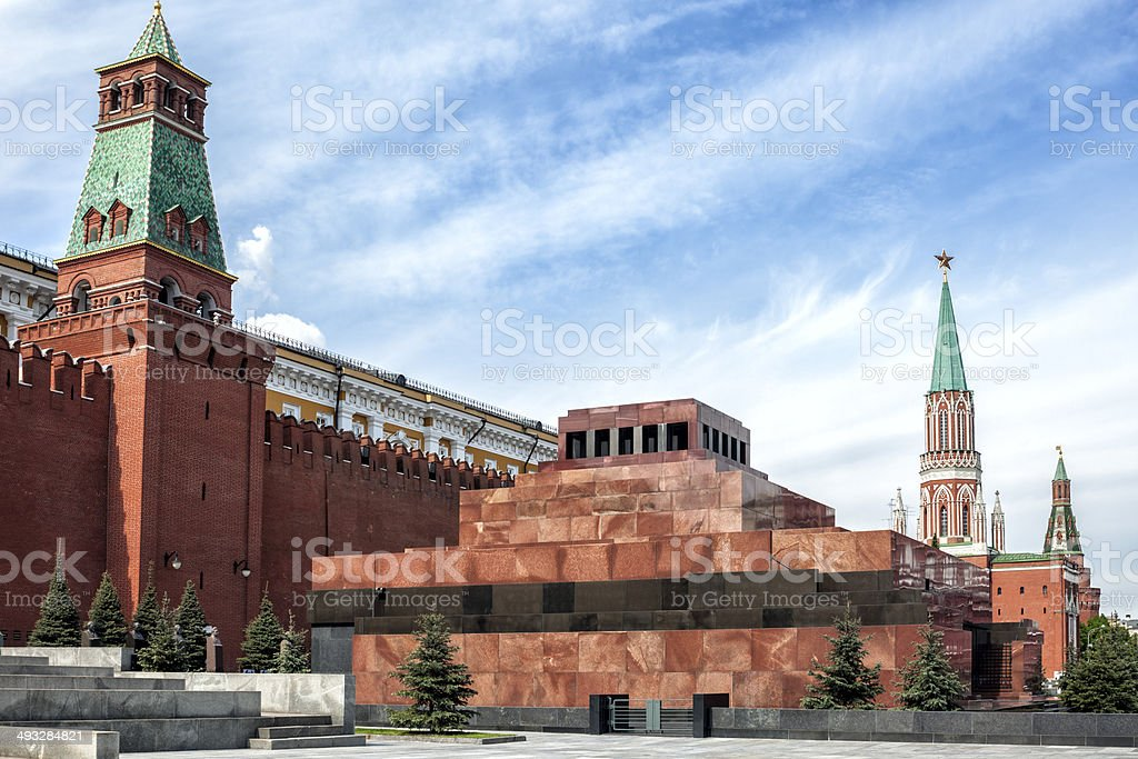 Lenin Mausoleum, Red Square, Moscow, Russia royalty-free stock photo