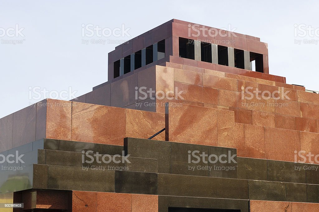 Lenin Mausoleum, Red Square, Moscow, Russia stock photo
