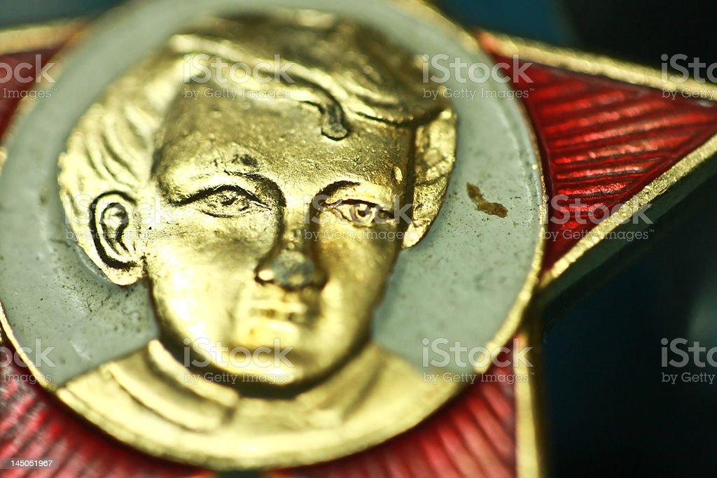 Lenin medallion royalty-free stock photo