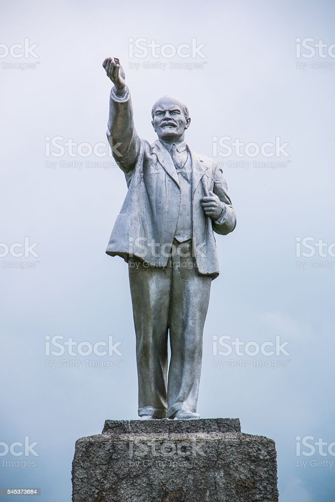 lenin monument soviet square russia statue russian stock photo
