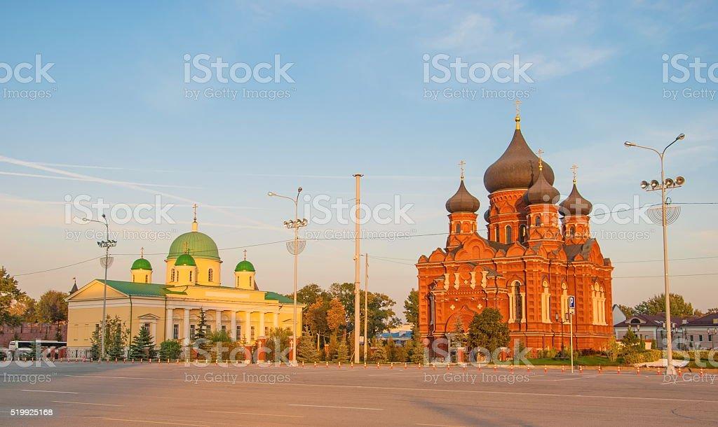 Lenin Square in Tula stock photo
