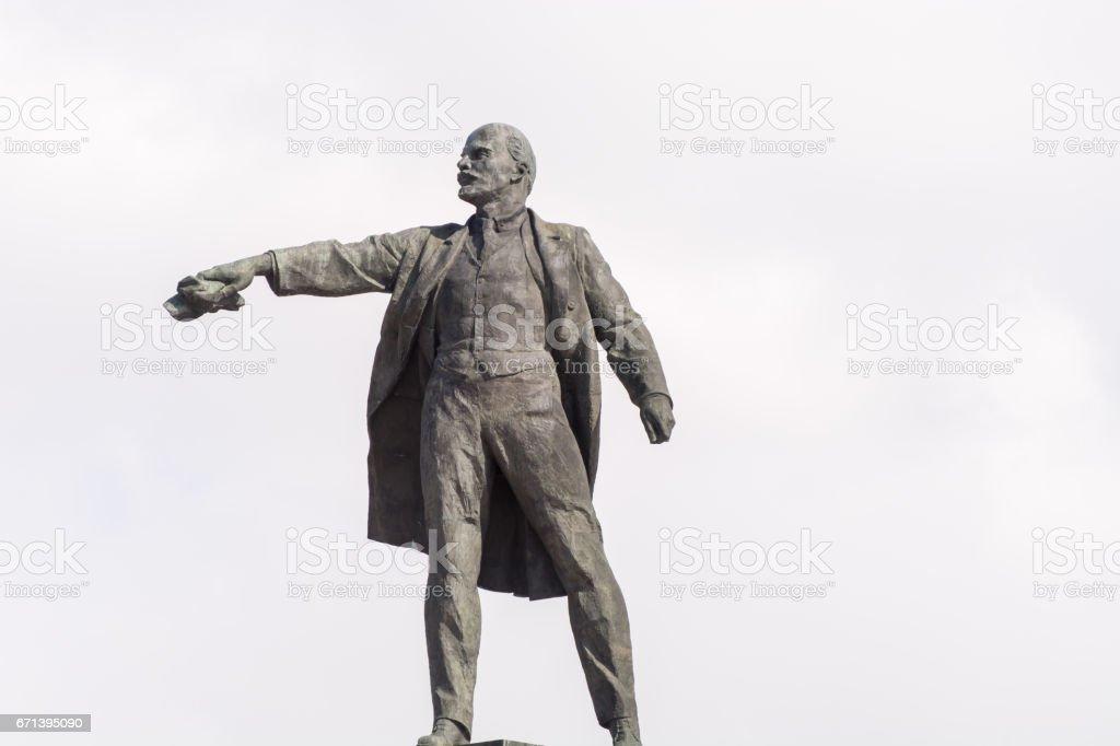 lenin statue monument stock photo